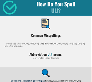 Correct spelling for UIJ