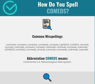 Correct spelling for COMEDS