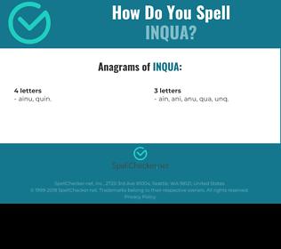 Correct spelling for INQUA