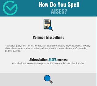 Correct spelling for AISES