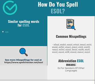 Correct spelling for ESOL