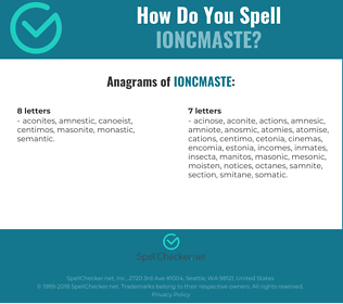 Correct spelling for IONCMASTE