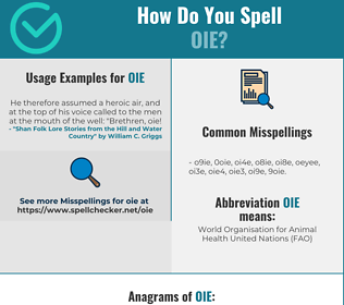 Correct spelling for OIE