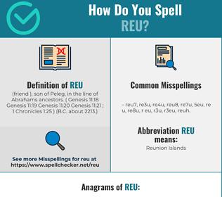 Correct spelling for REU