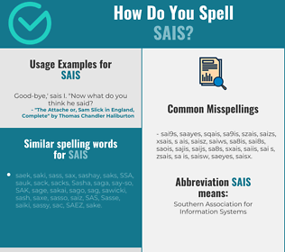 Correct spelling for SAIS