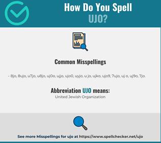 Correct spelling for UJO