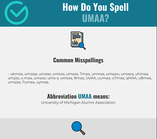 Correct spelling for UMAA