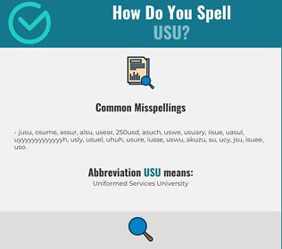 Correct spelling for USU
