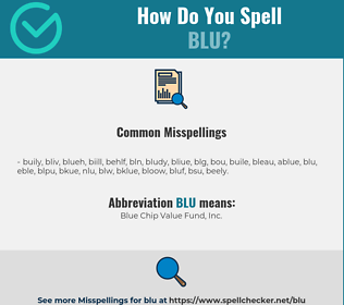Correct spelling for BLU