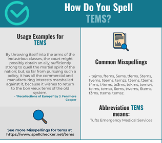 Correct spelling for TEMS