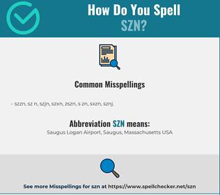 Correct spelling for SZN