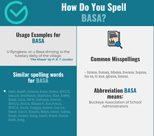 Correct spelling for BASA