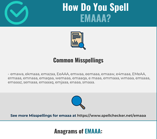 Correct spelling for EMAAA