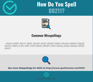 Correct spelling for 00211