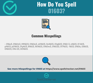 Correct spelling for 01603