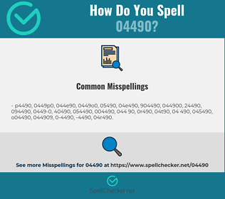 Correct spelling for 04490