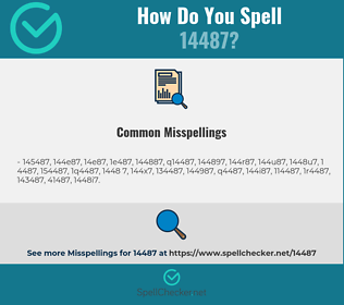 Correct spelling for 14487