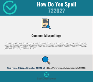 Correct spelling for 72202