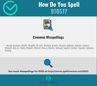 Correct spelling for 91051