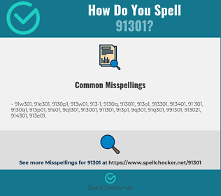 Correct spelling for 91301