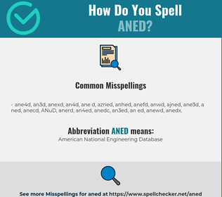 Correct spelling for ANED