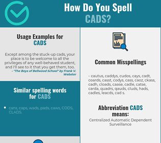 Correct spelling for CADS