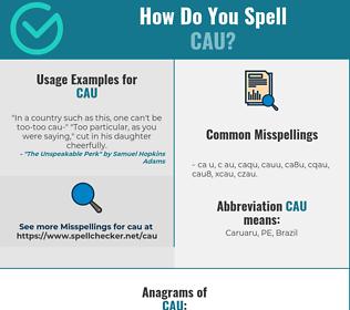 Correct spelling for CAU
