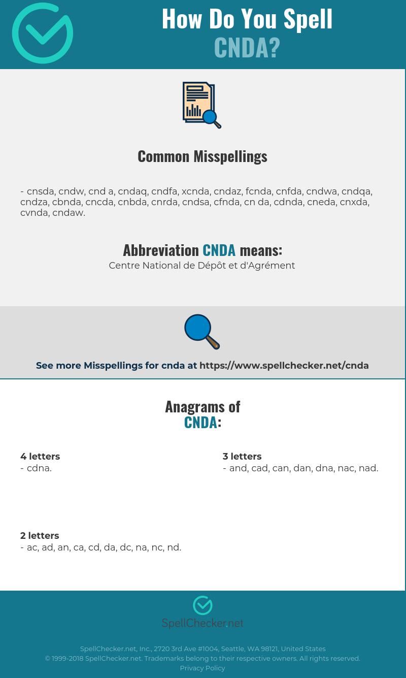 Correct Spelling For Cnda Infographic Spellchecker Net