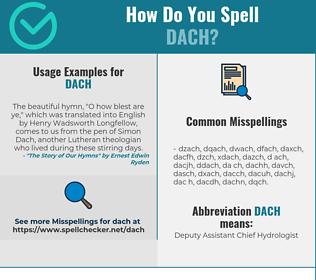 Correct Spelling For Dach Spellchecker Net
