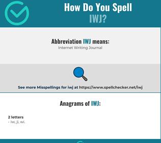 Correct spelling for IWJ
