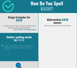 Correct spelling for KASH