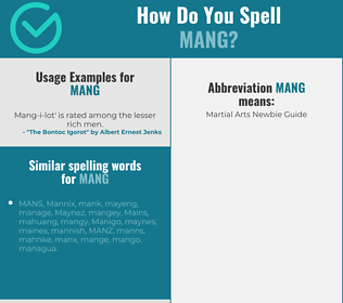 Correct spelling for MANG
