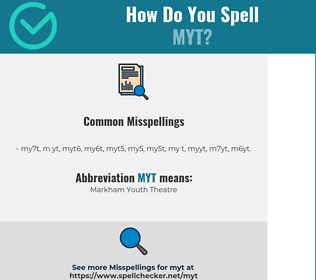 Correct spelling for MYT