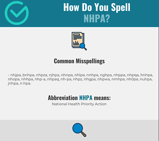 Correct spelling for NHPA