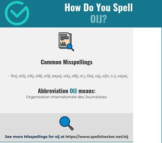 Correct spelling for OIJ