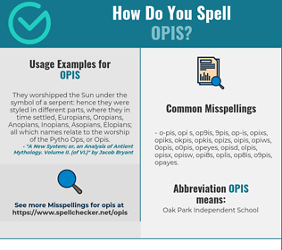 Correct spelling for OPIS