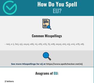 Correct spelling for EIJ