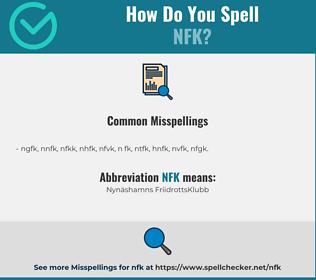 Correct spelling for NFK