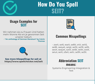 Correct spelling for SEIT