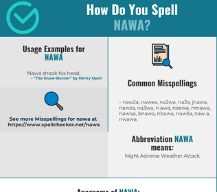 Correct spelling for NAWA