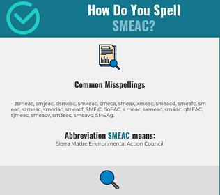 Correct spelling for SMEAC