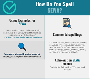 Correct spelling for SEWA