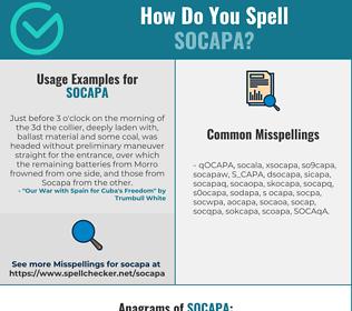 Correct spelling for SOCAPA