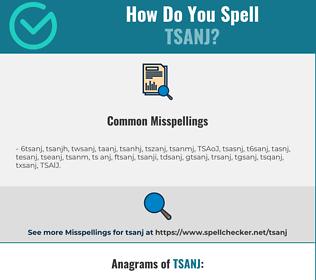 Correct spelling for TSANJ