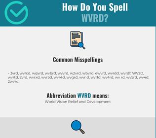 Correct spelling for WVRD