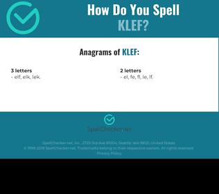 Correct spelling for KLEF