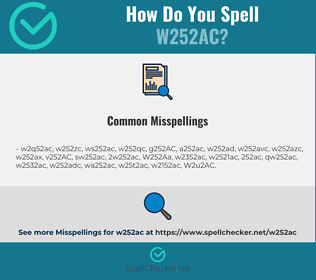 Correct spelling for W252AC