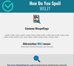 Correct spelling for WELJ