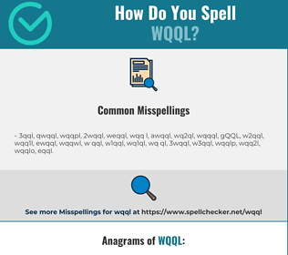 Correct spelling for WQQL