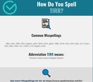 Correct spelling for TIRR